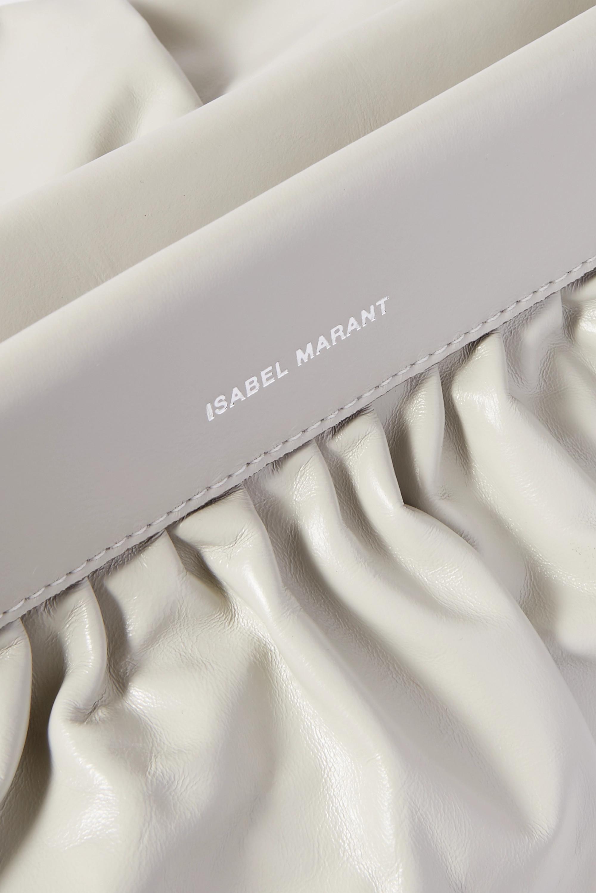 Isabel Marant Luzel large studded leather clutch