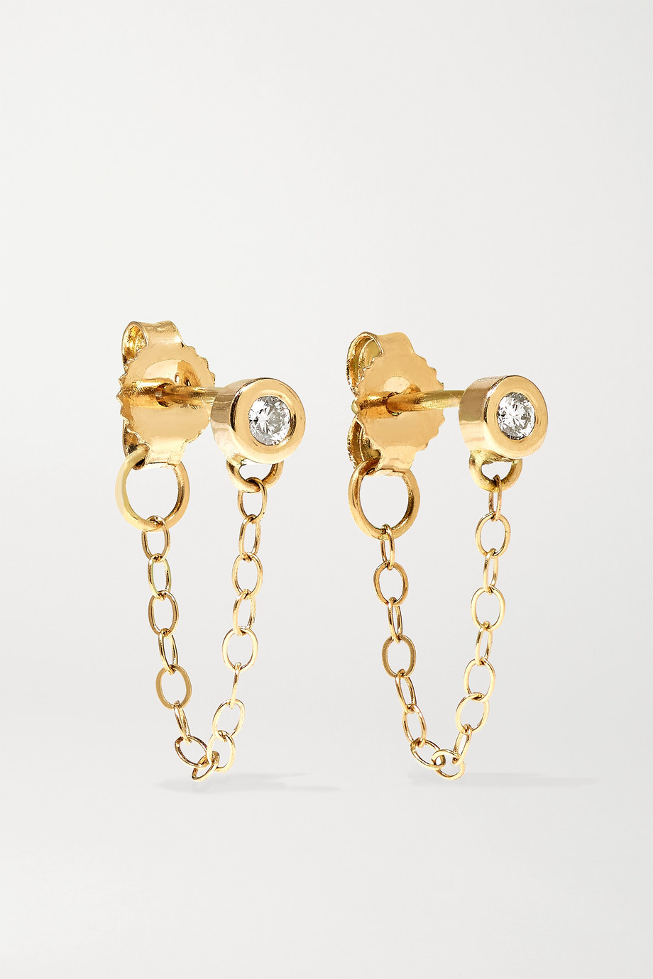 Melissa Joy Manning 14-karat gold diamond earrings