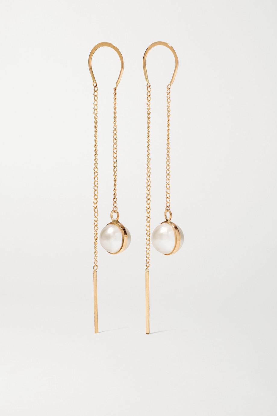 Melissa Joy Manning Ohrringe aus 14 Karat Gold mit Perlen
