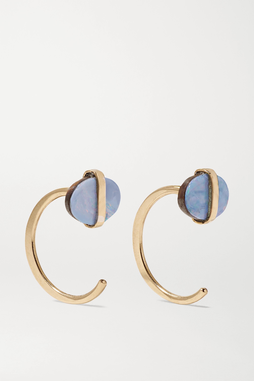 Melissa Joy Manning 14-karat gold opal hoop earrings