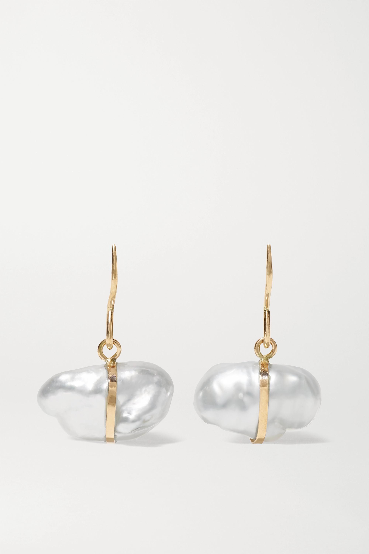 Melissa Joy Manning 14-karat recycled gold pearl earrings
