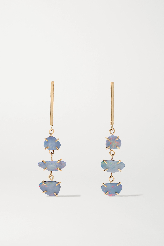 Melissa Joy Manning 14-karat recycled gold opal doublet earrings