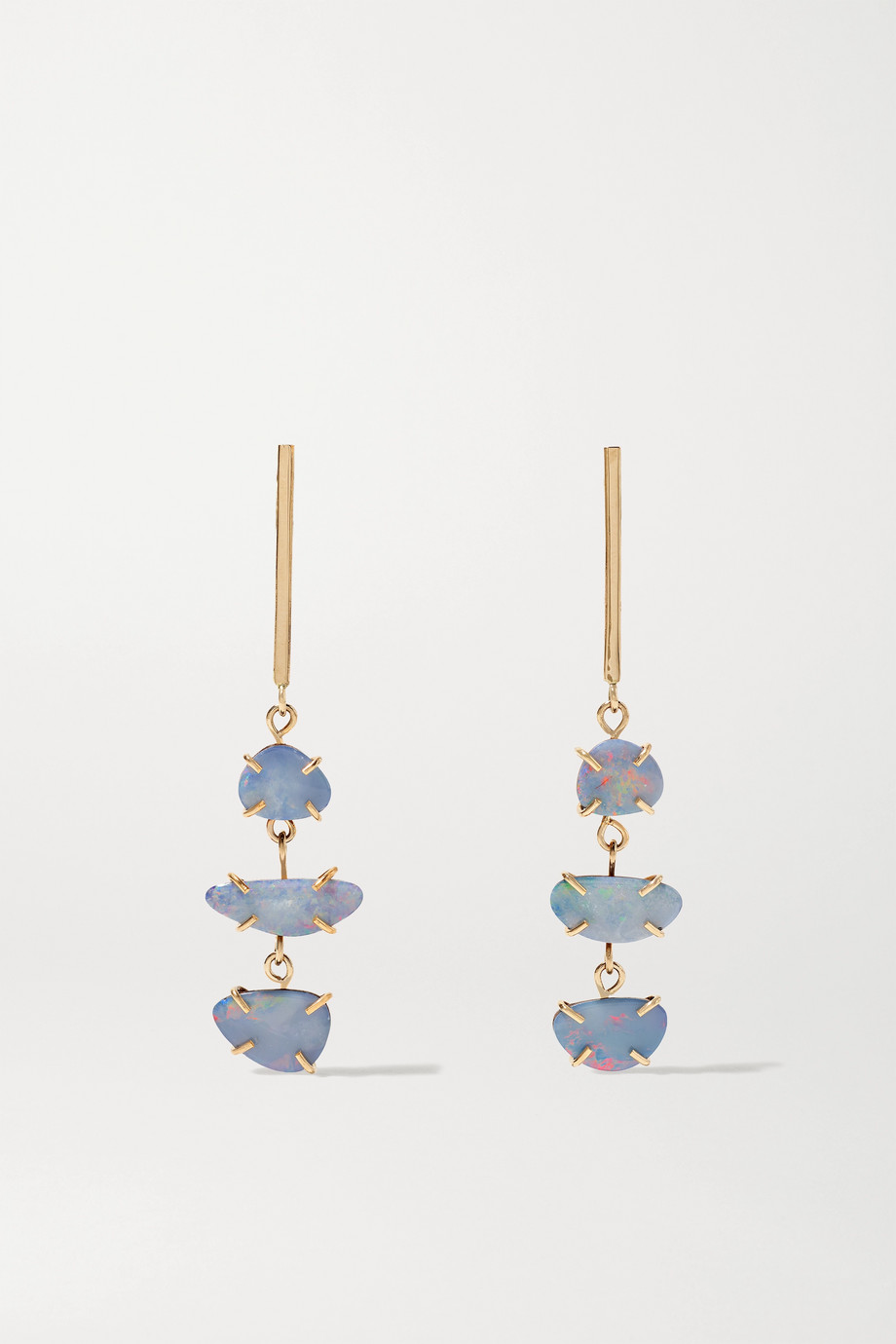Melissa Joy Manning 14-karat gold opal doublet earrings