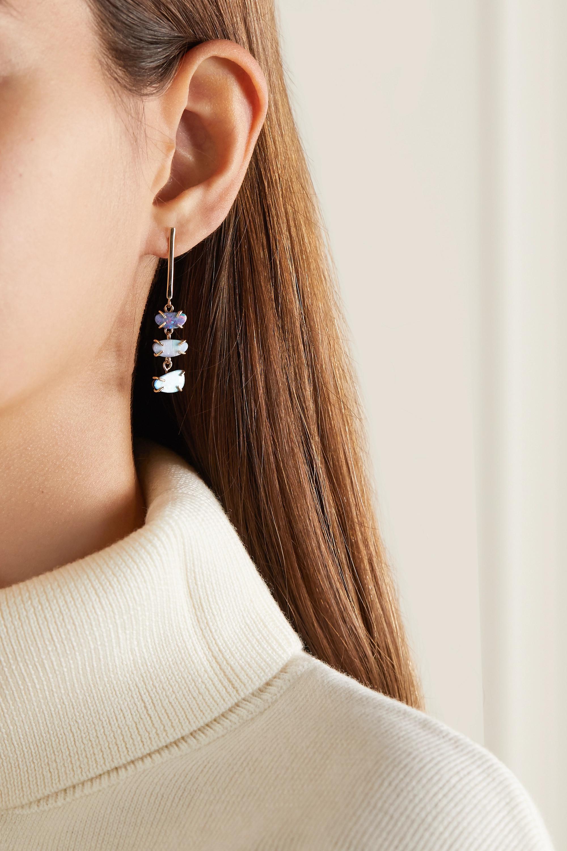 Melissa Joy Manning 14-karat gold opal doublet earrings
