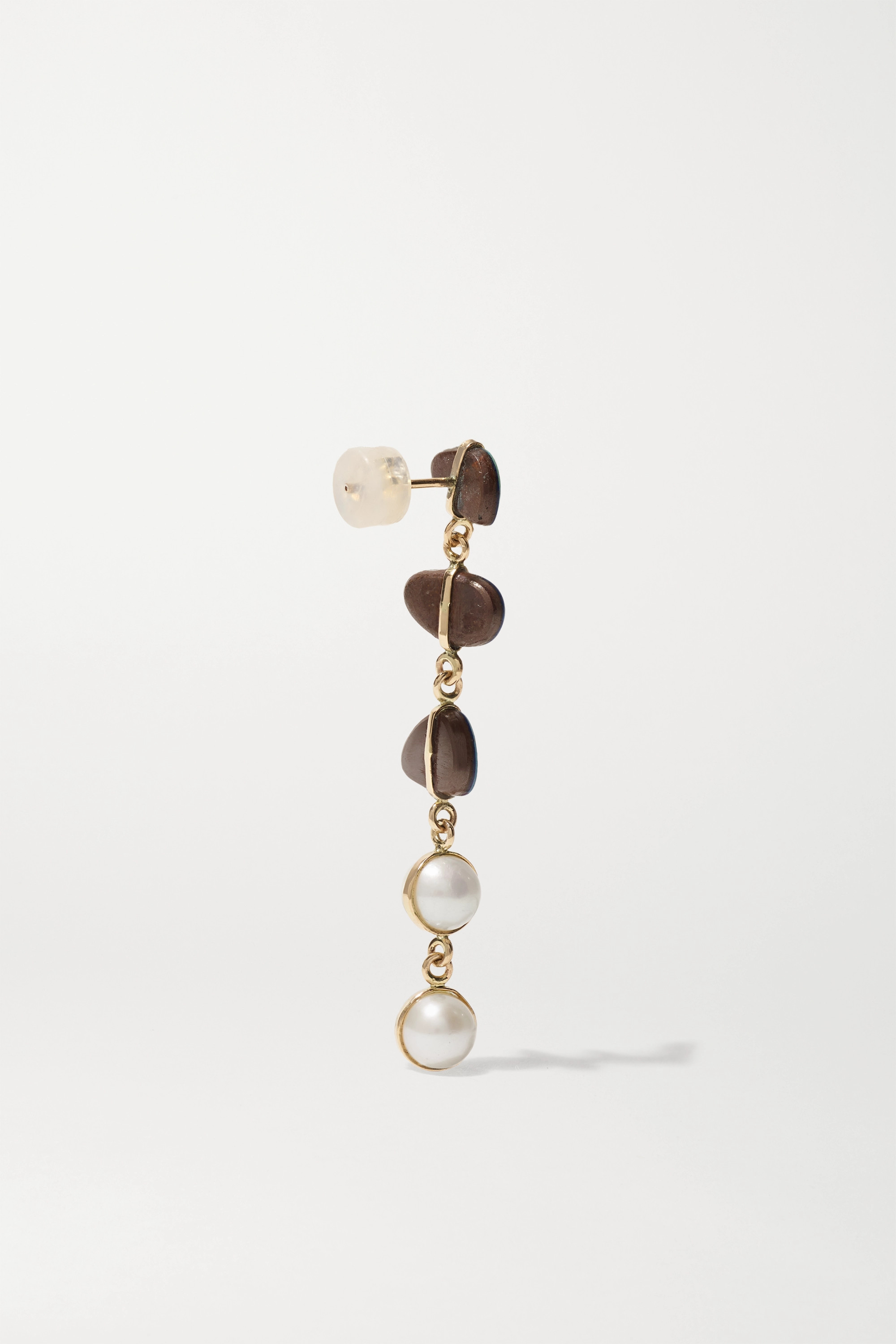 Melissa Joy Manning Levity 14-karat recycled gold, pearl and opal earrings