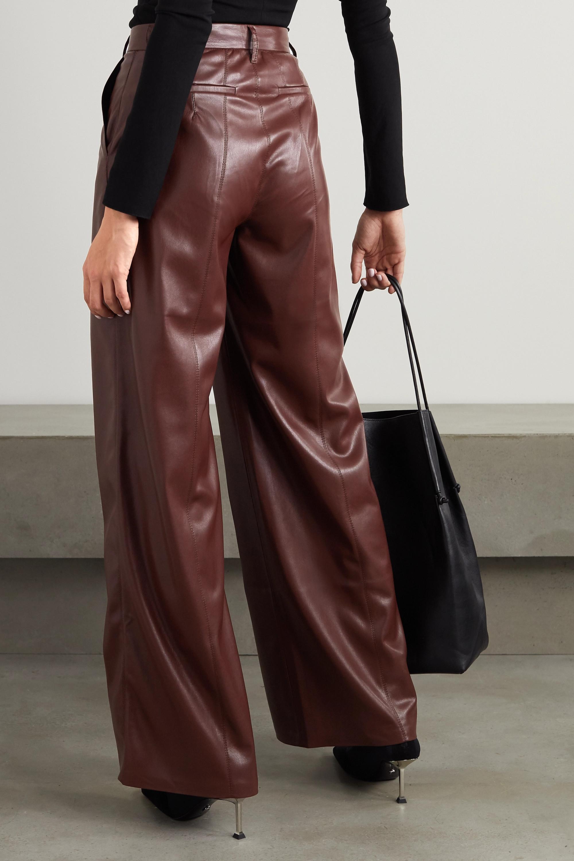 Nanushka Cleo vegan stretch-leather wide-leg pants