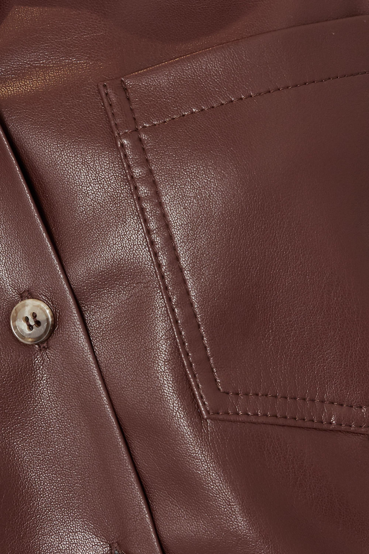 Nanushka Kiara vegan leather shirt