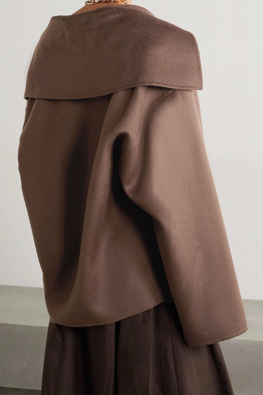 Nanushka Eli oversized wool and silk-blend felt jacket