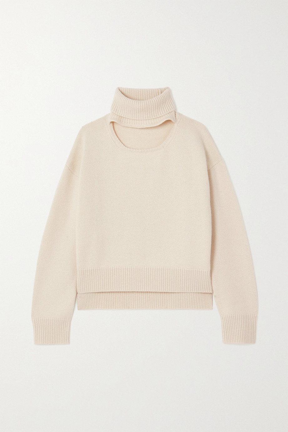 REJINA PYO Peyton cutout cashmere and wool-blend turtleneck sweater