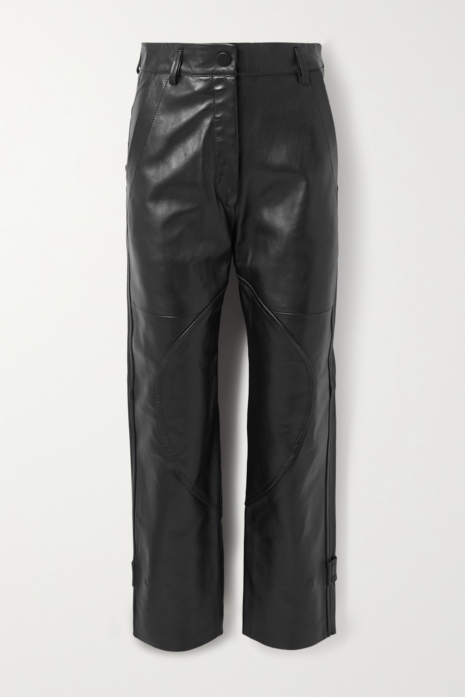 Petar Petrov Hunter paneled leather straight-leg pants