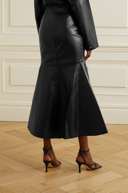 Petar Petrov Ryo leather midi skirt