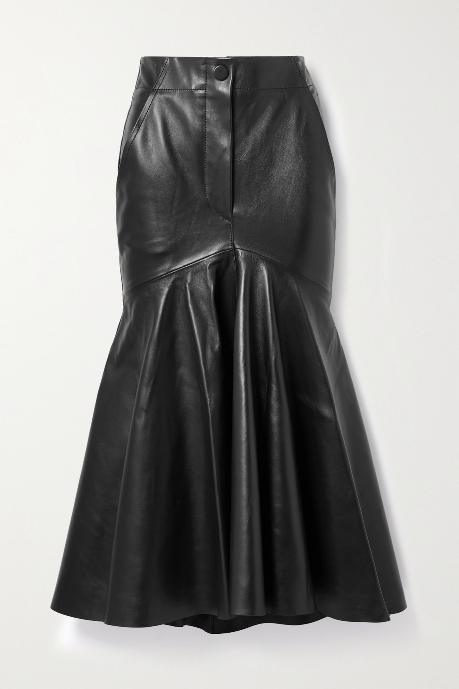 Petar Petrov Ryo leather midi skirt