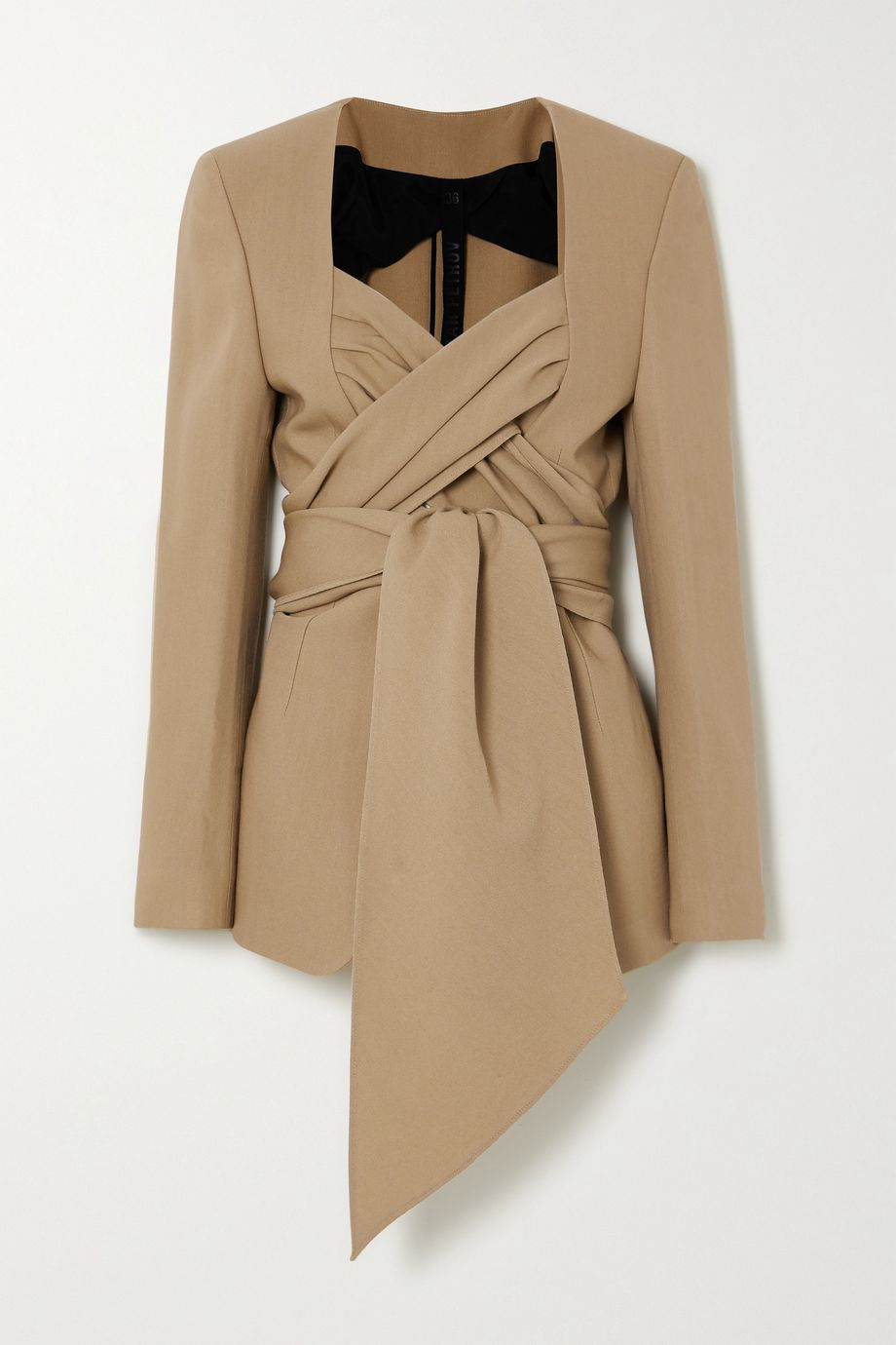 Petar Petrov Joshua wool and silk-blend wrap blazer