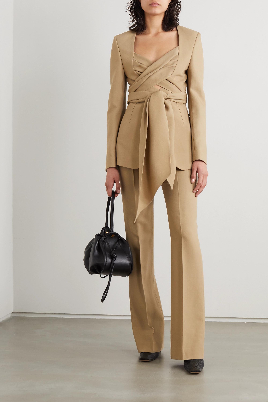 Petar Petrov Joshua 羊毛真丝混纺围裹式西装外套