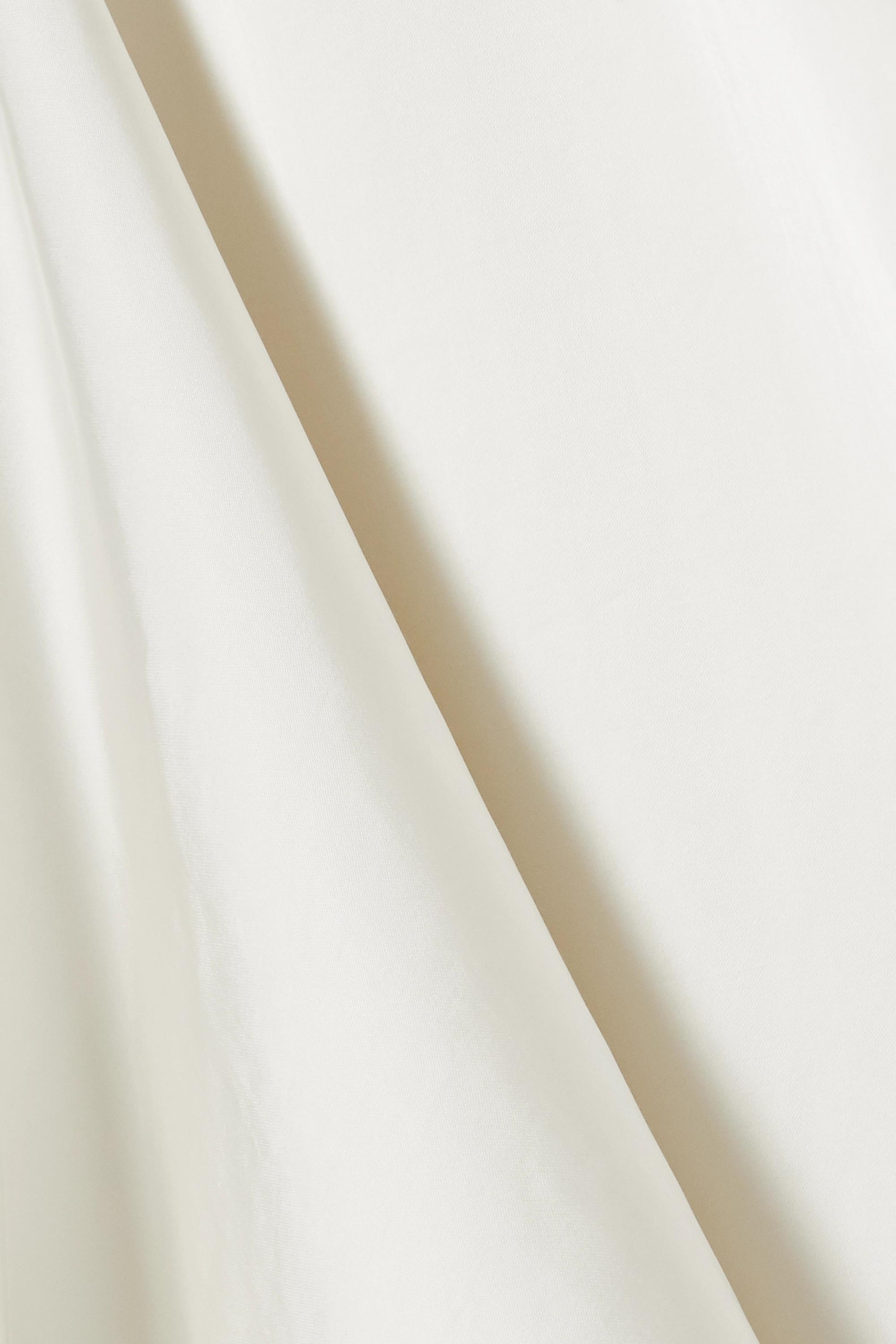 Petar Petrov Coral 垂坠真丝混纺缎布女衫