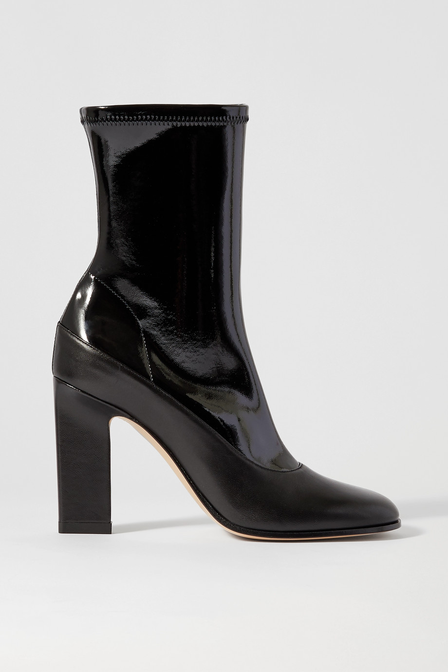 Wandler Lesly patent and matte-leather ankle boots