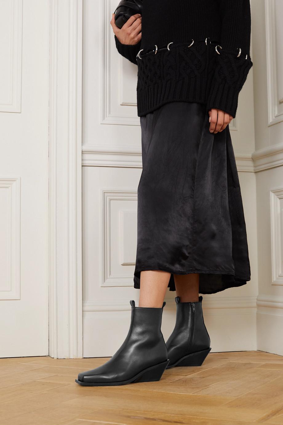 Ann Demeulemeester 皮革踝靴