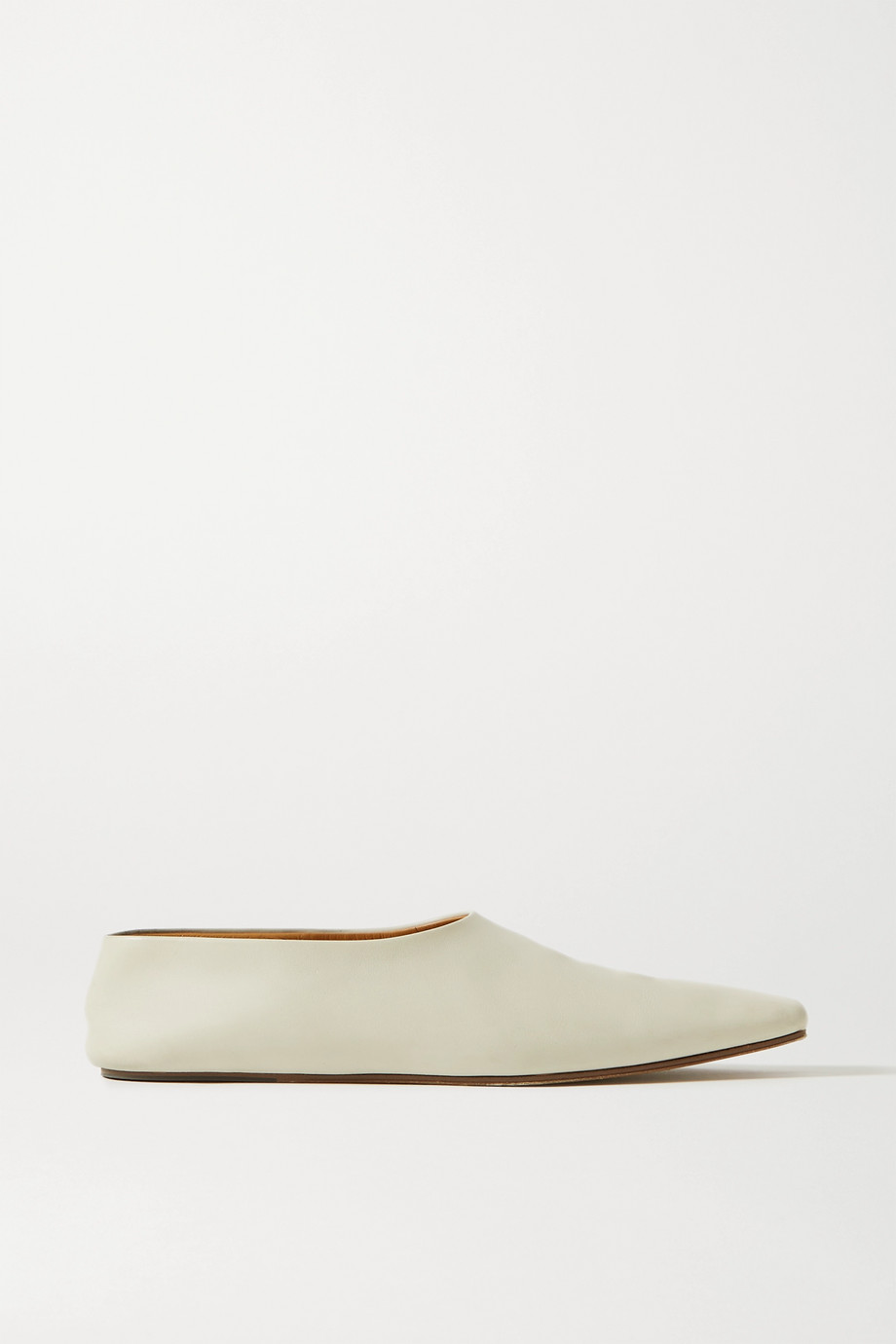 The Row Leather ballet flats