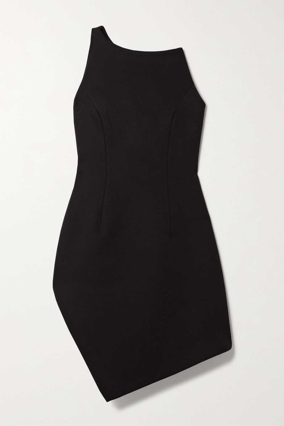 Coperni Motion one-shoulder asymmetric cady mini dress