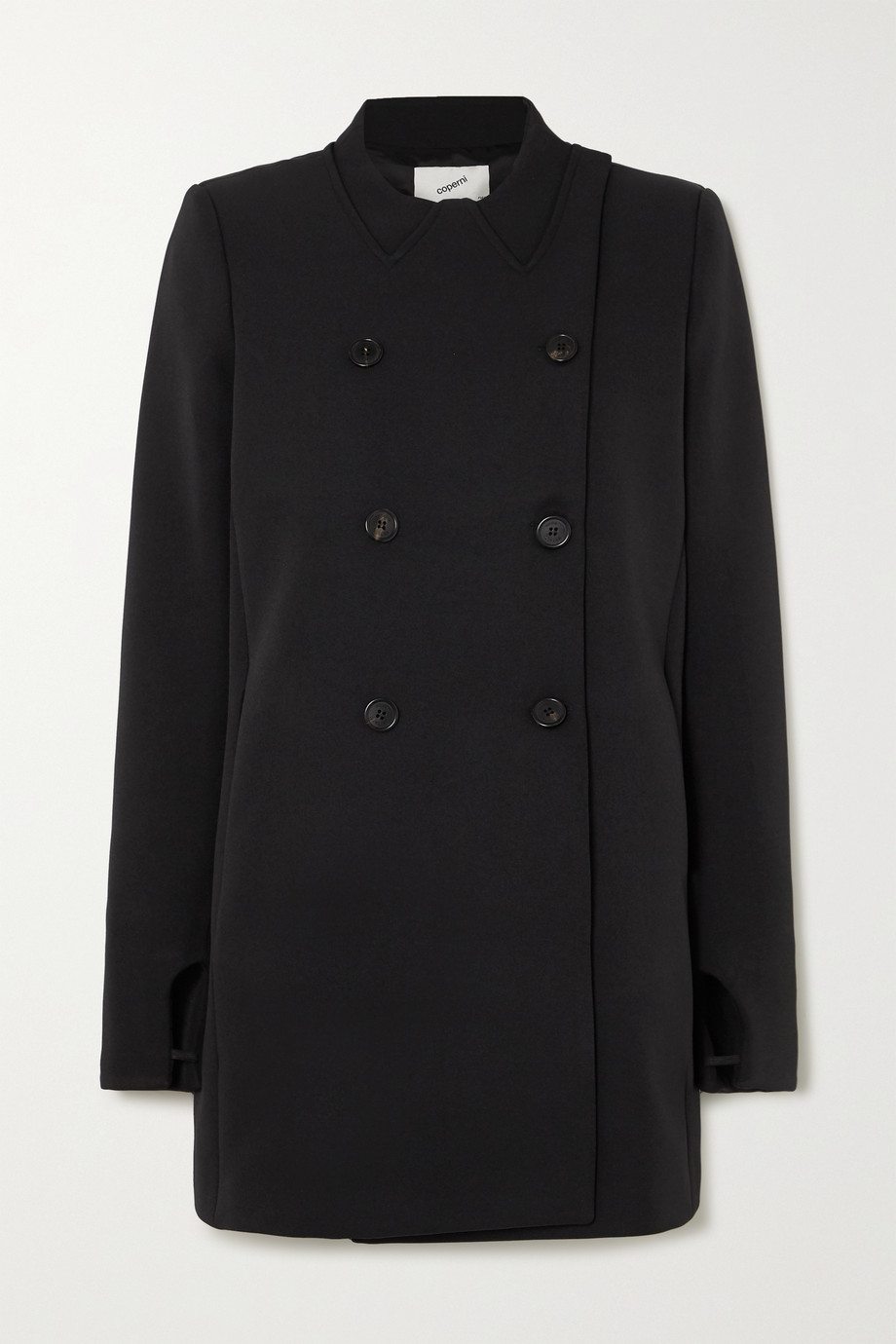 Coperni Double-breasted grain de poudre coat