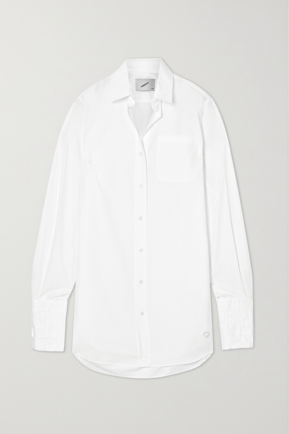 Coperni Oversized cotton-poplin shirt