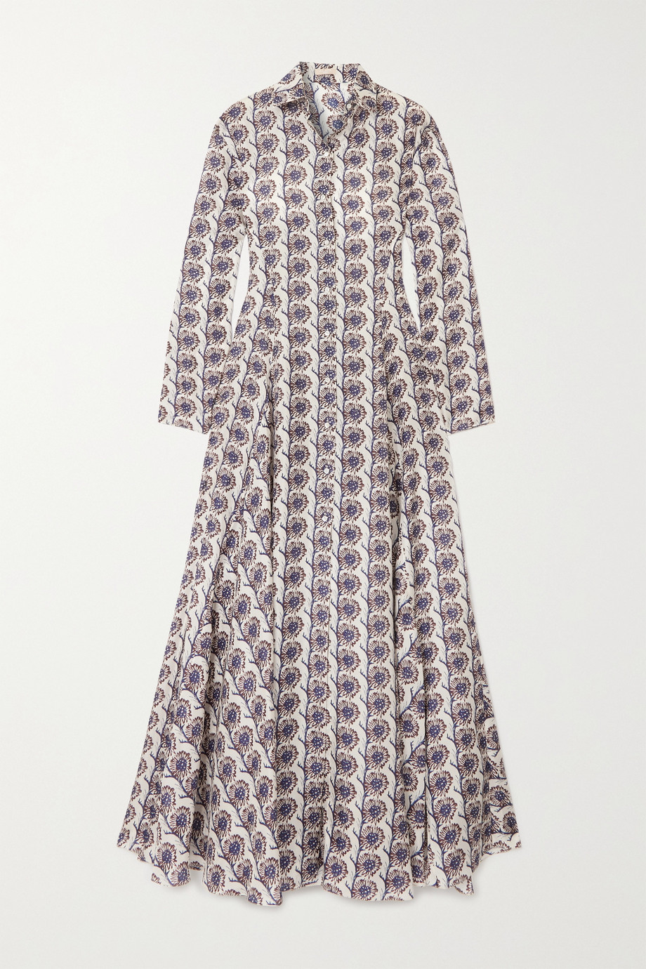 Alaïa Floral-print silk crepe de chine shirt dress