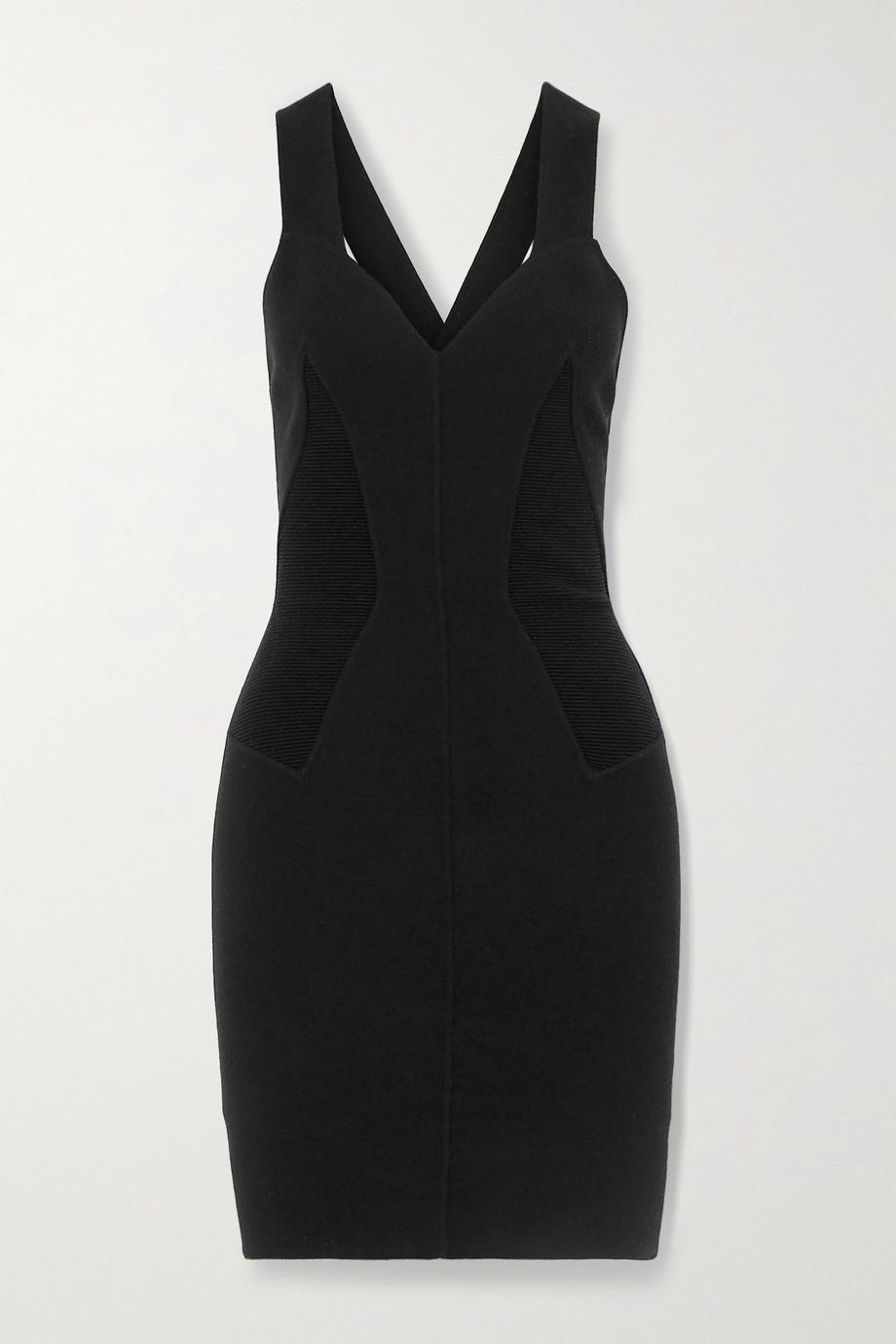 Alaïa Ribbed wool-blend mini dress