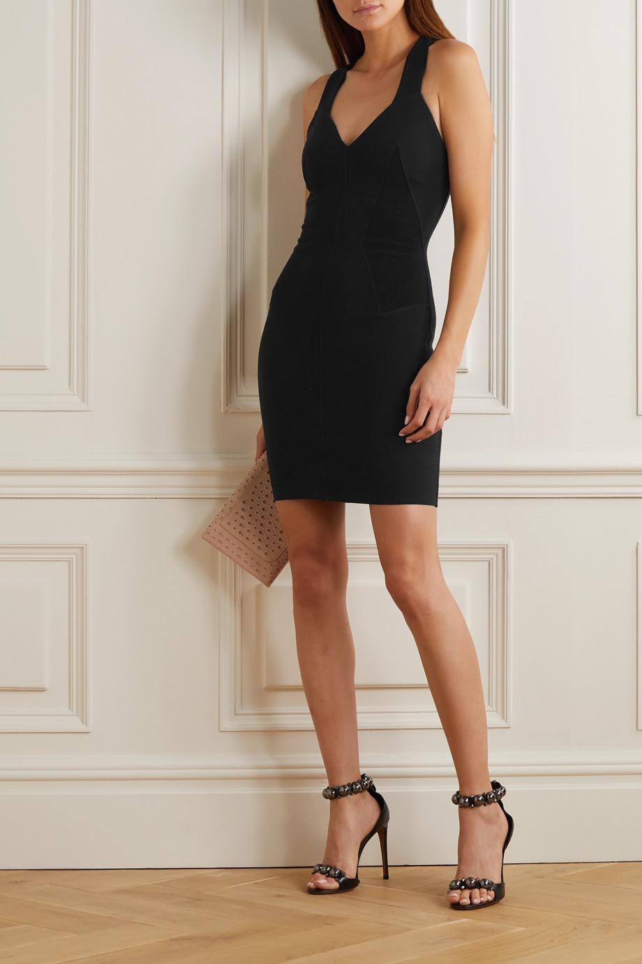 Alaïa Mini-robe en laine mélangée côtelée
