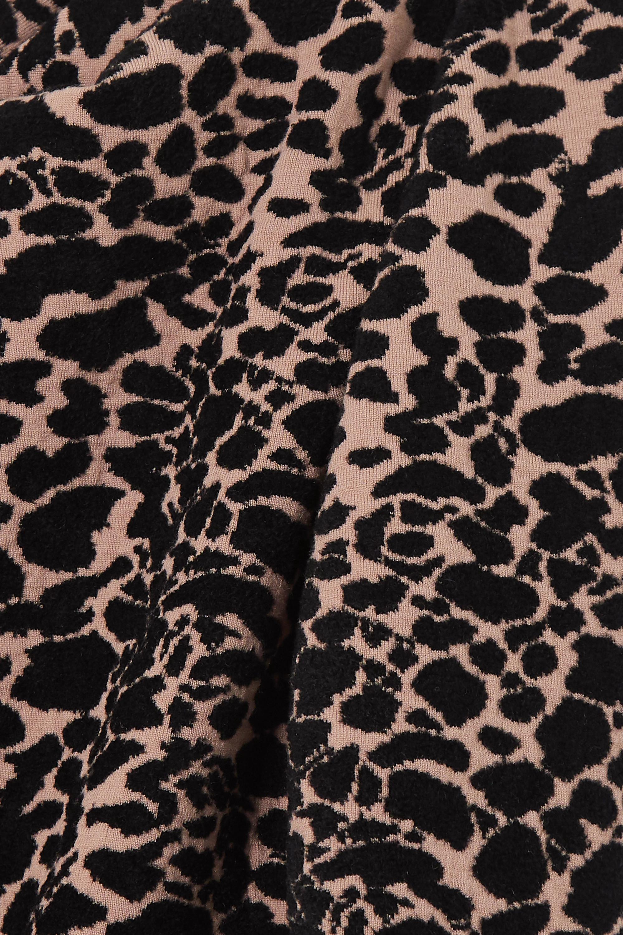Alaïa Leopard jacquard-knit jumpsuit