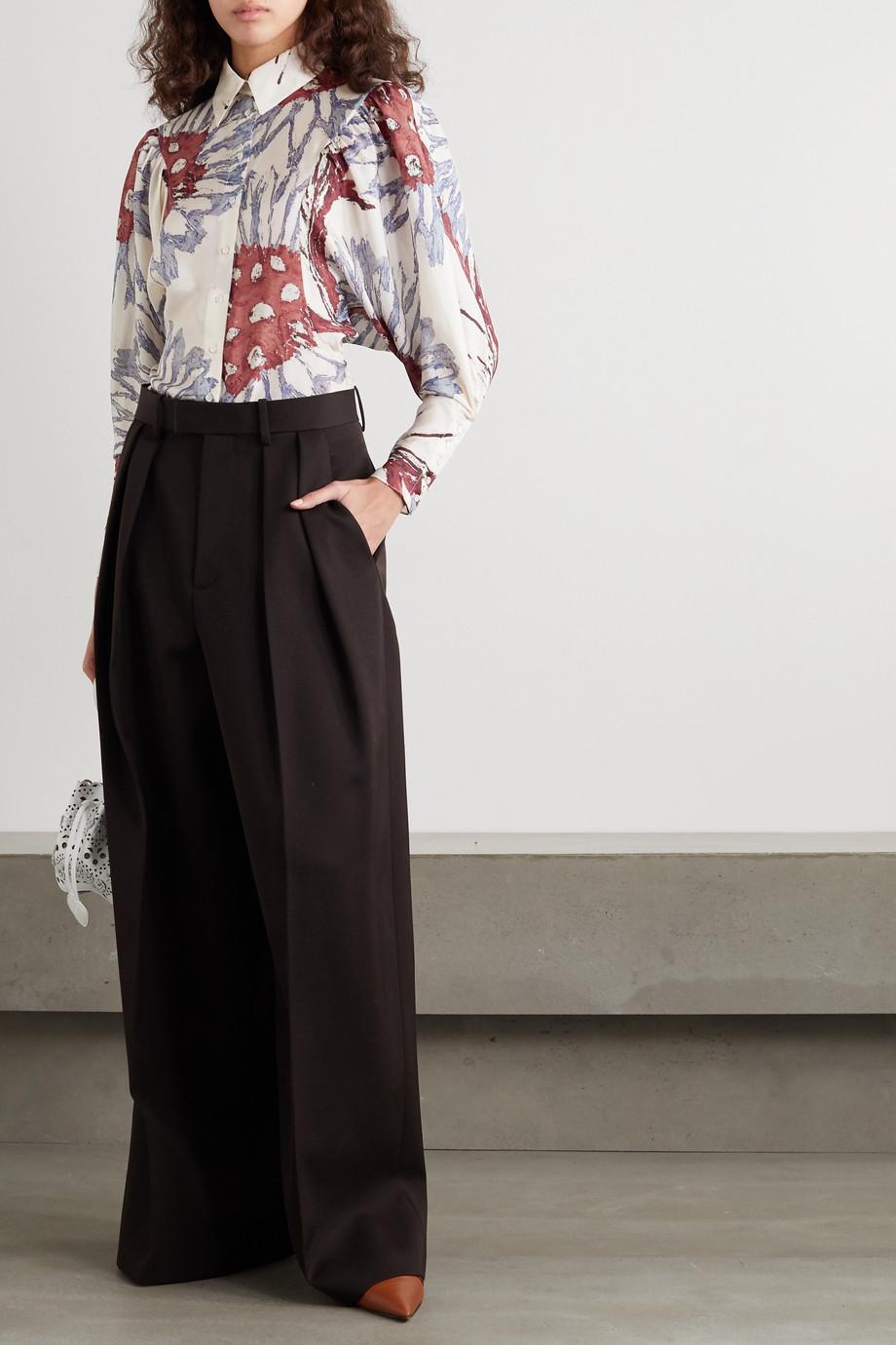 Alaïa Hemd aus Habutai-Seide mit Blumenprint