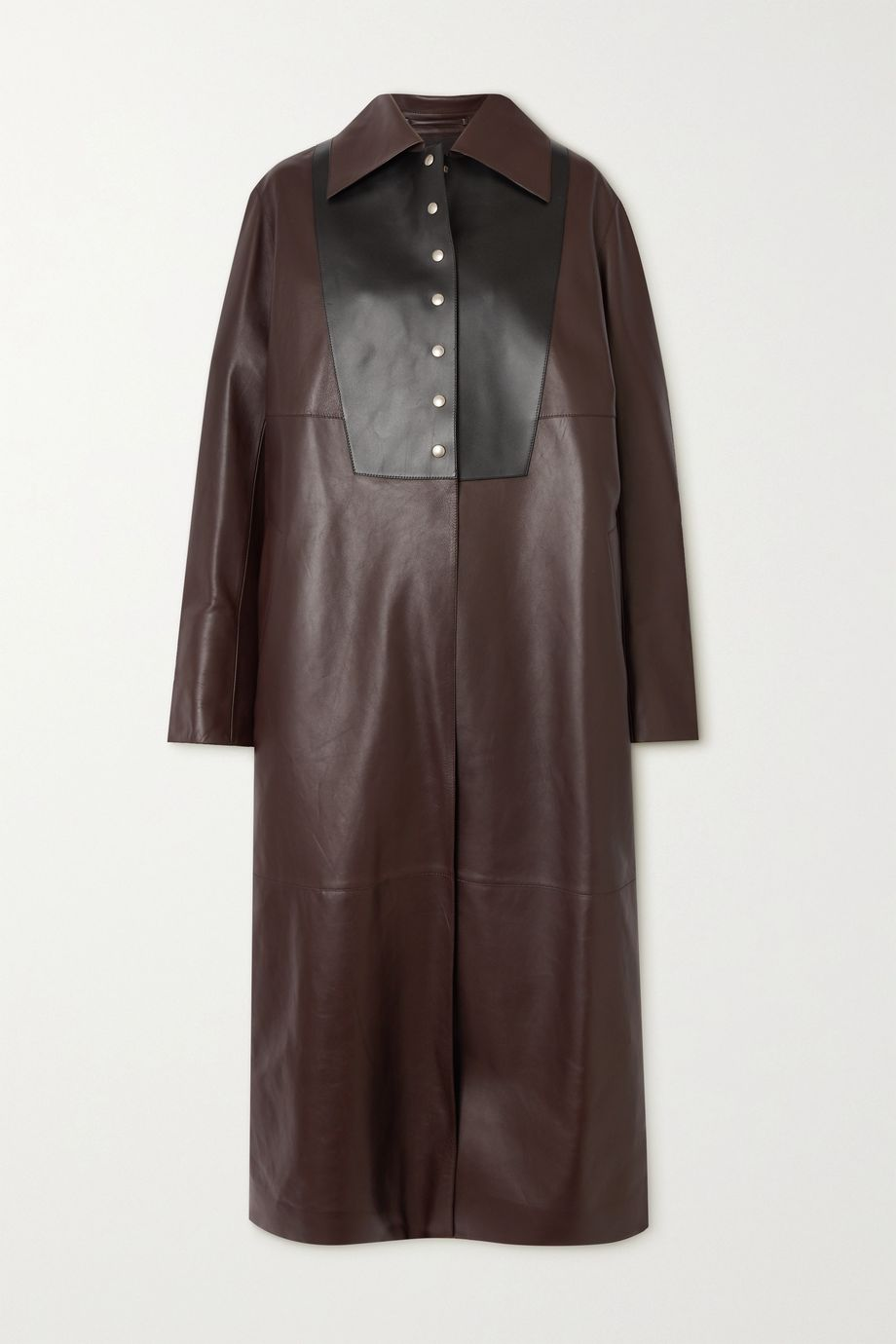 Loewe Two-tone leather coat