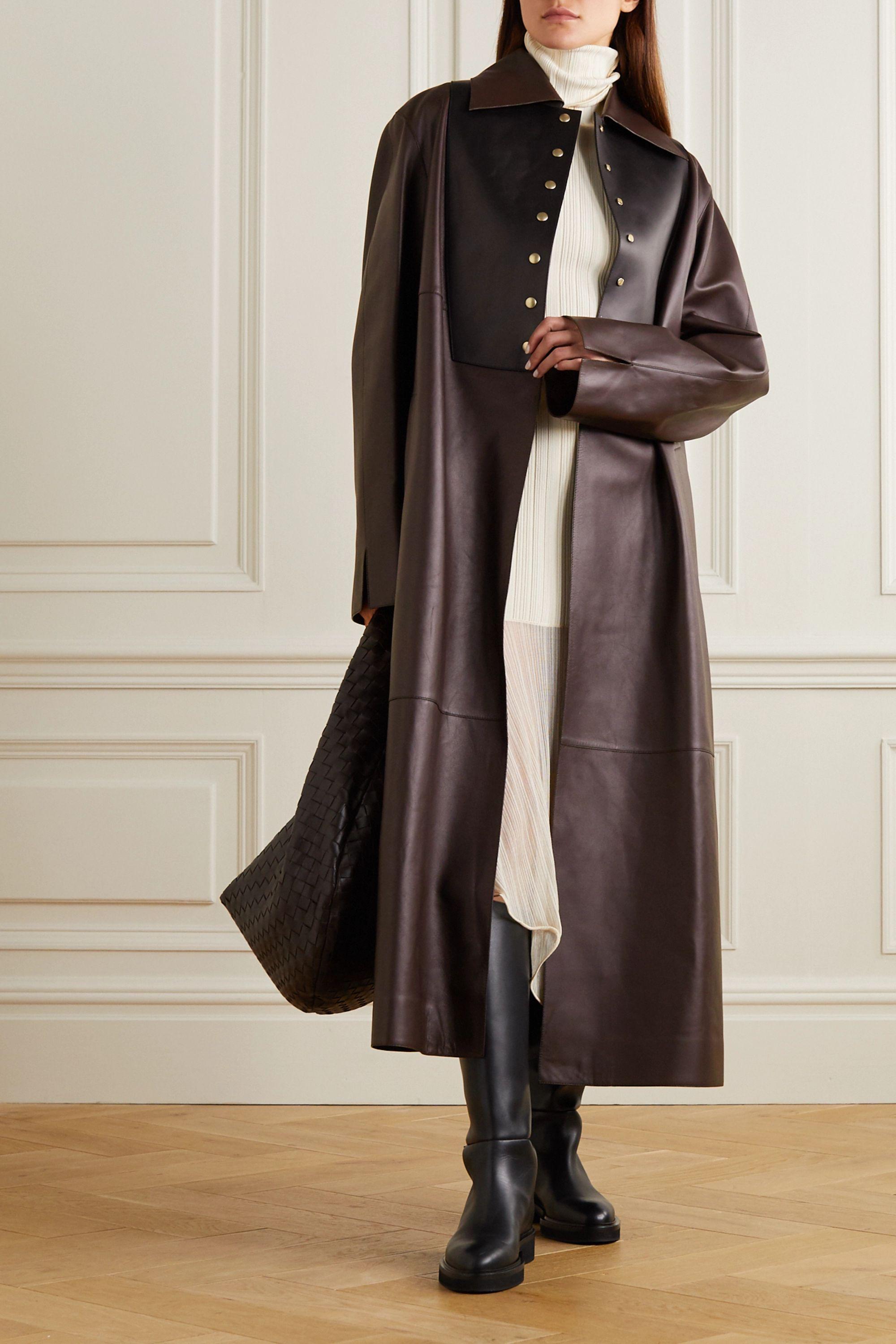 Loewe Two-tone leather coat