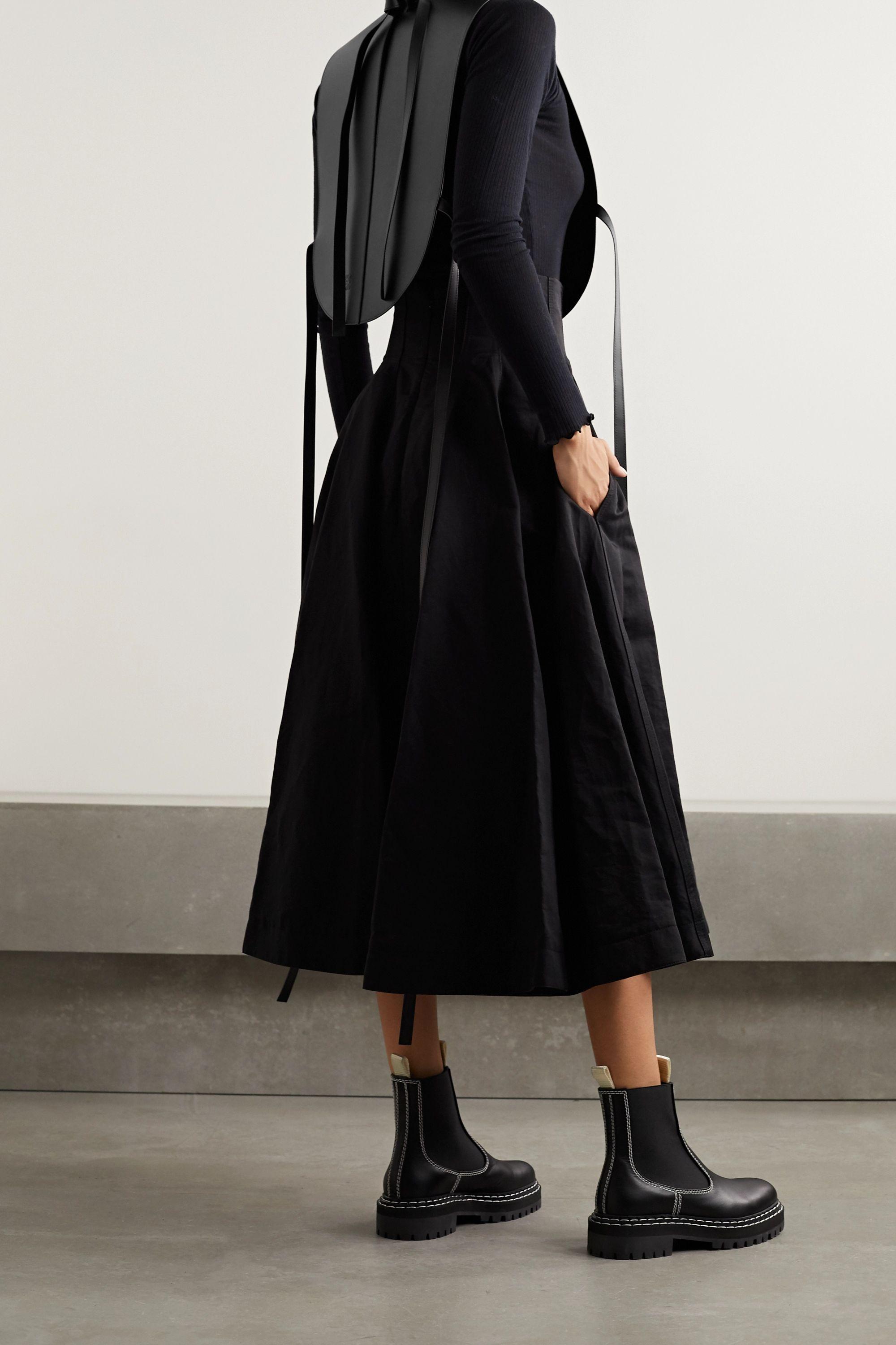Loewe Tie-detailed leather vest