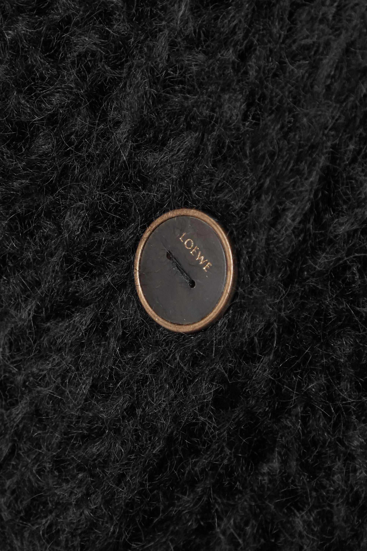 Loewe Cardigan oversize en mohair mélangé à mailles torsadées et à plumes
