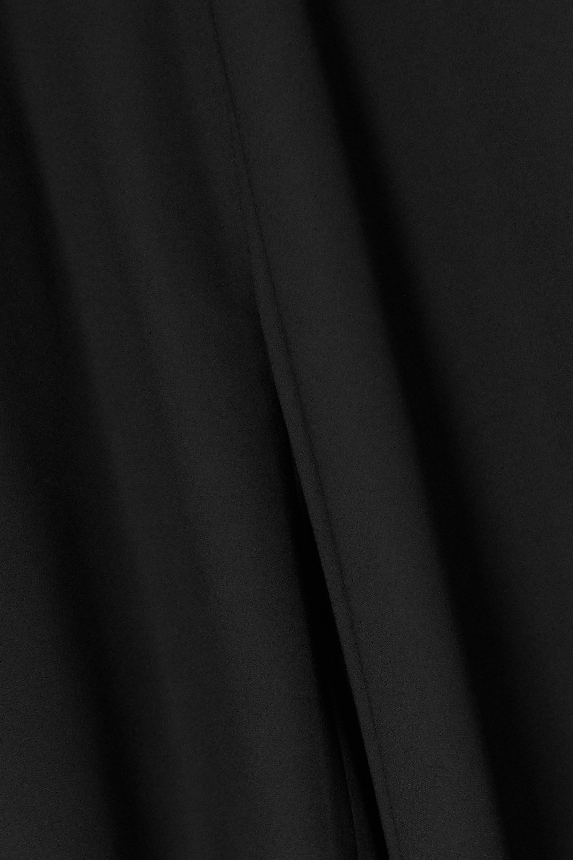 Black Asymmetric Cape-effect Chiffon Gown | Balenciaga
