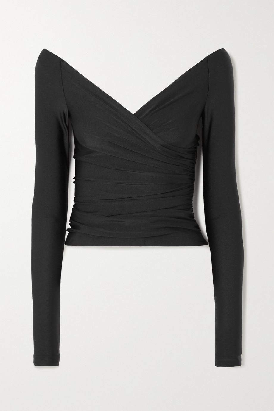 Balenciaga Gathered stretch-jersey top