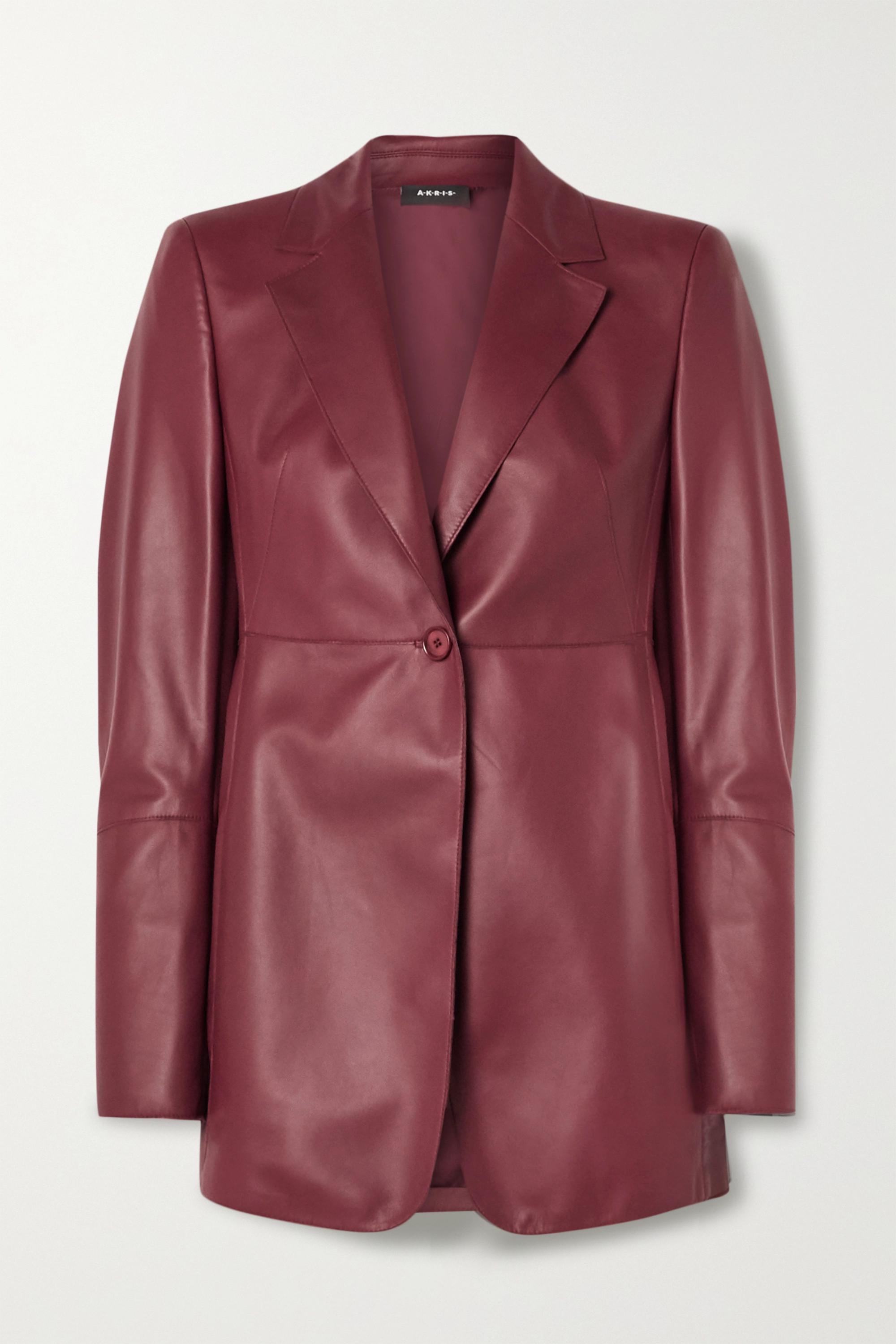 Akris Leather blazer