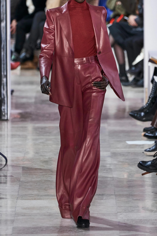 Akris Leather straight-leg pants