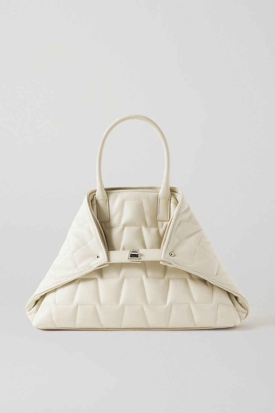 Akris Ai Messenger small convertible quilted leather tote