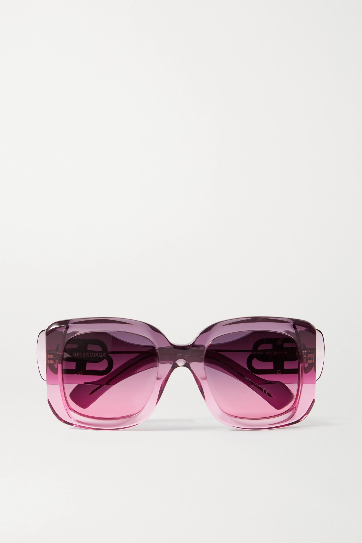 Balenciaga Paris oversized square-frame dégradé acetate sunglasses