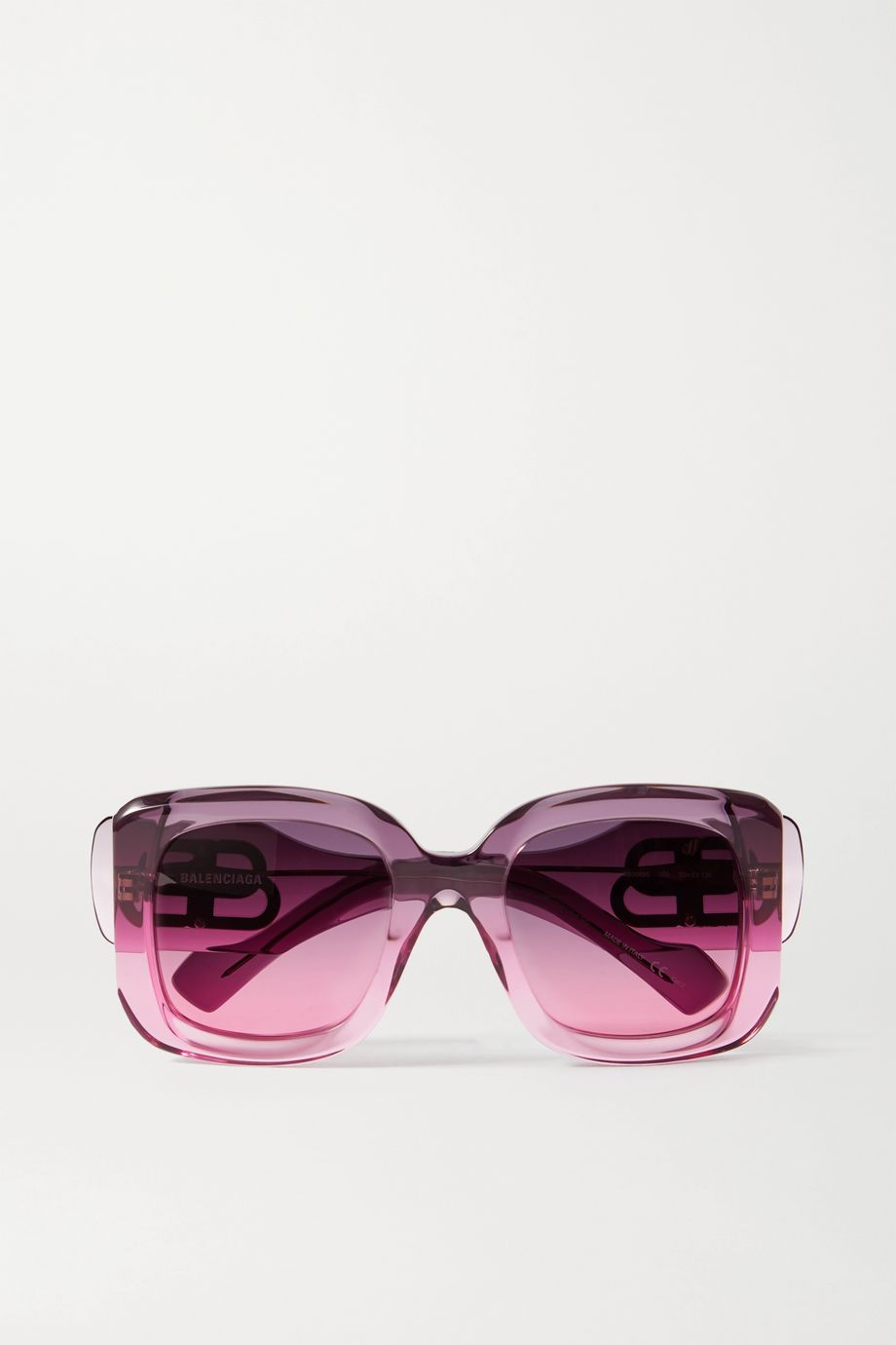 Balenciaga Paris oversized square-frame dégradé acetate sunglasses