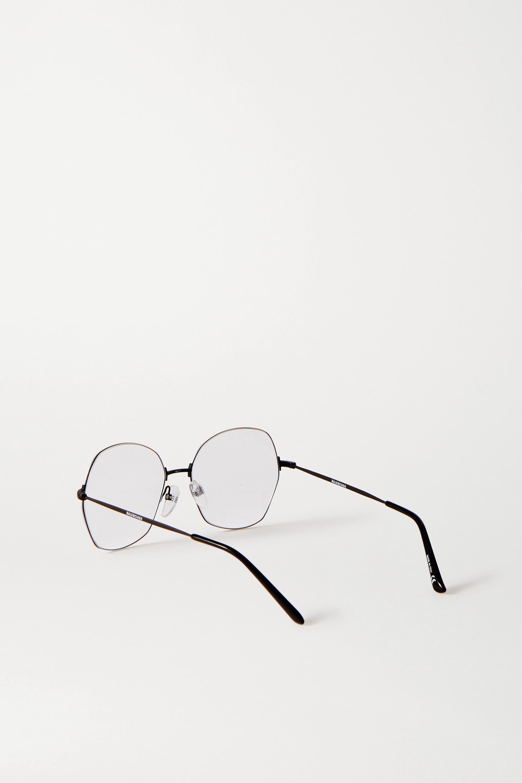 Balenciaga Round-frame metal optical glasses