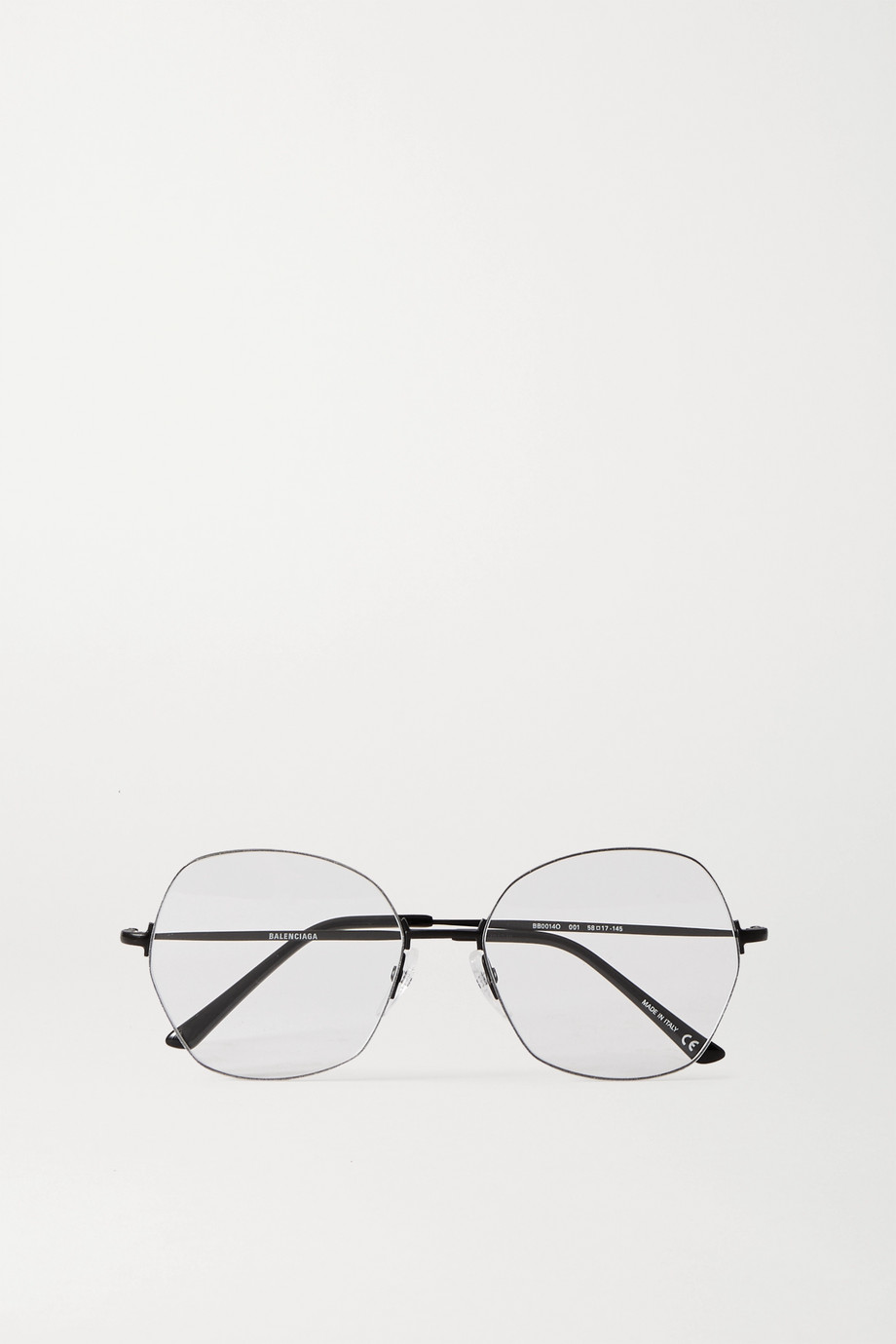 Balenciaga Round-frame metal optical glasses