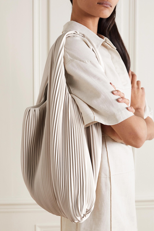 Nanushka Jo pleated vegan leather tote