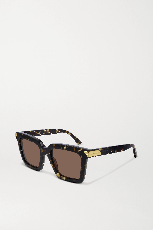 Bottega Veneta Oversized-Sonnenbrille mit eckigem Rahmen aus Azetat mit Farbverlauf