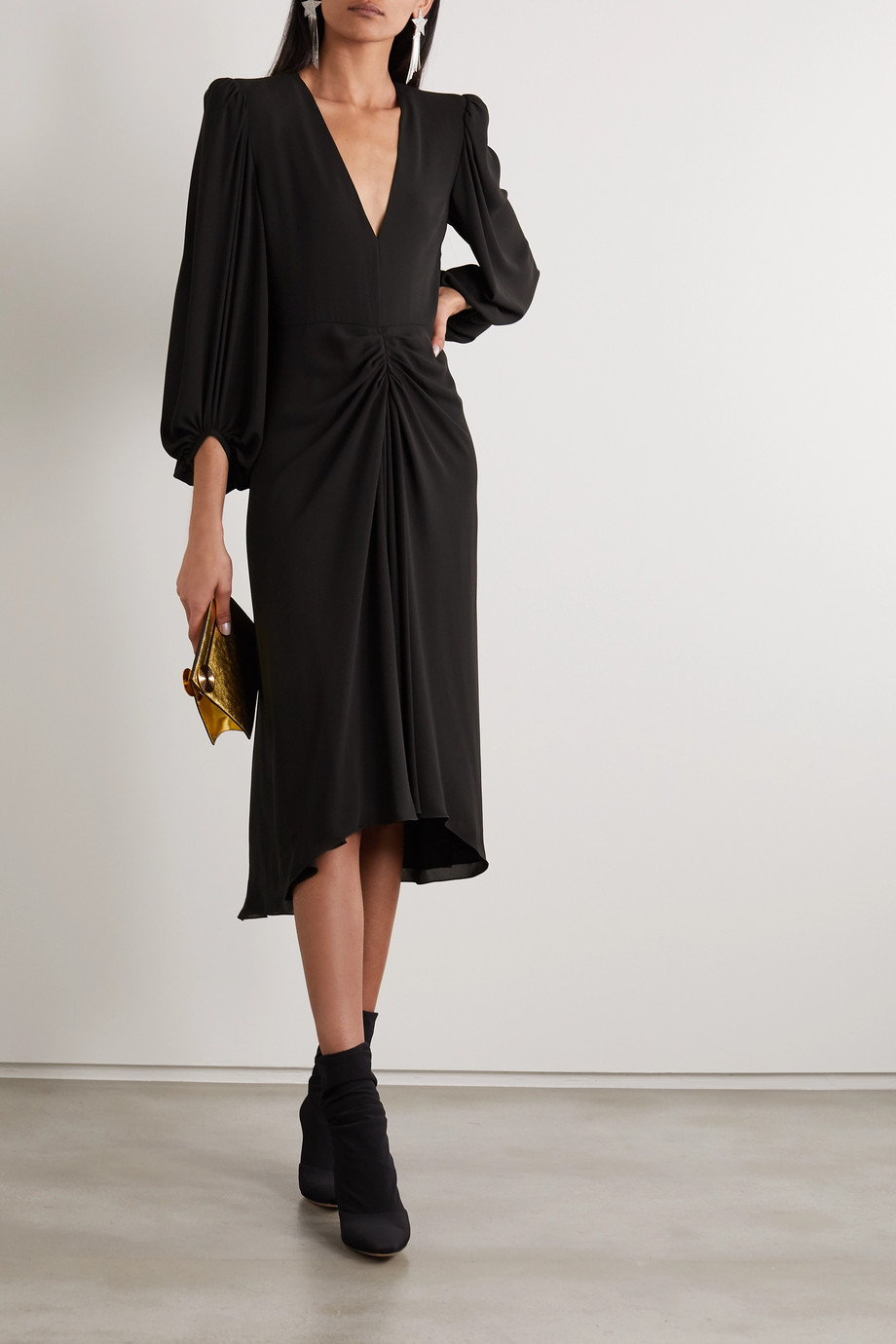 Philosophy di Lorenzo Serafini Asymmetric gathered crepe dress