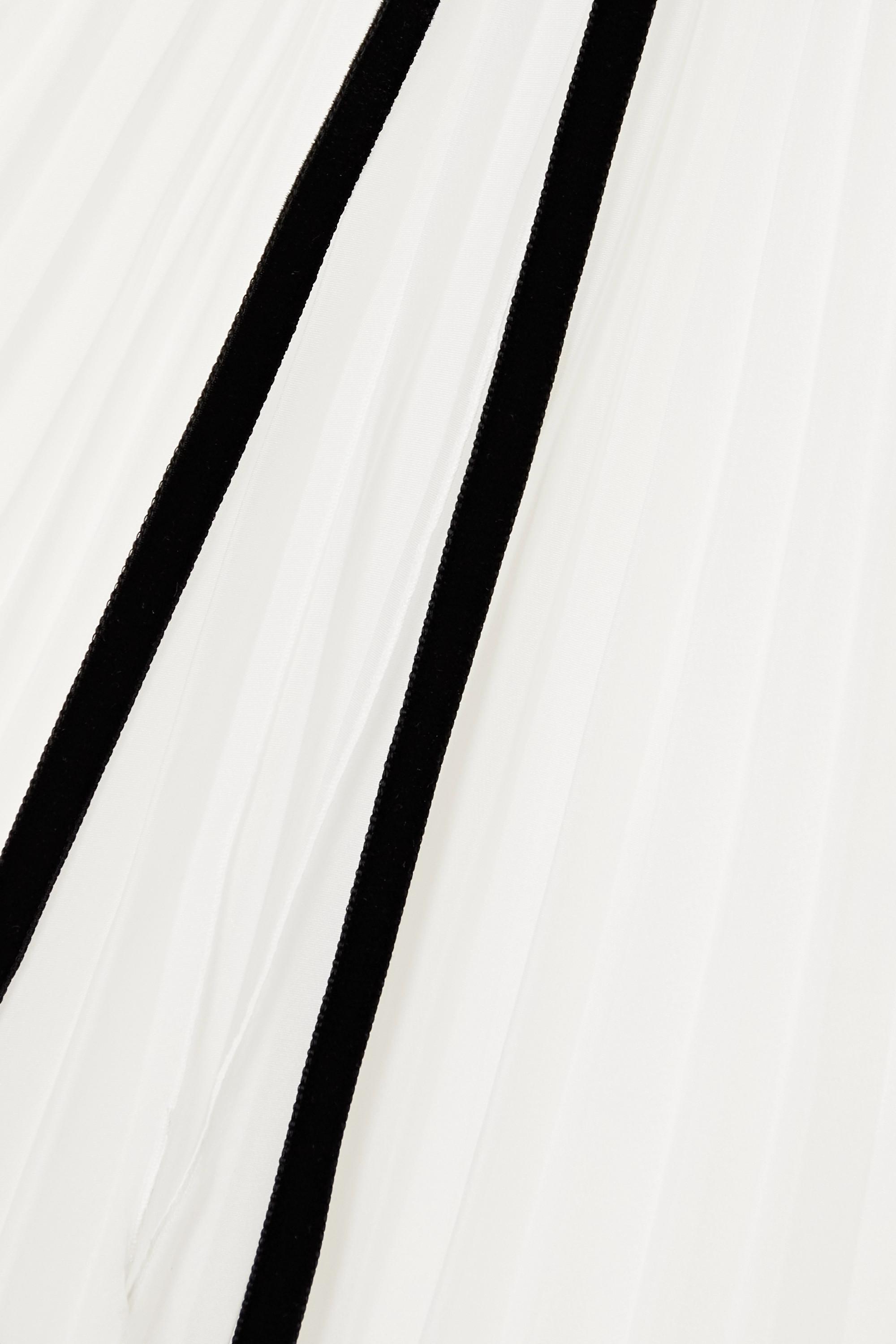 Philosophy di Lorenzo Serafini Bluse aus plissiertem Chiffon zum Binden