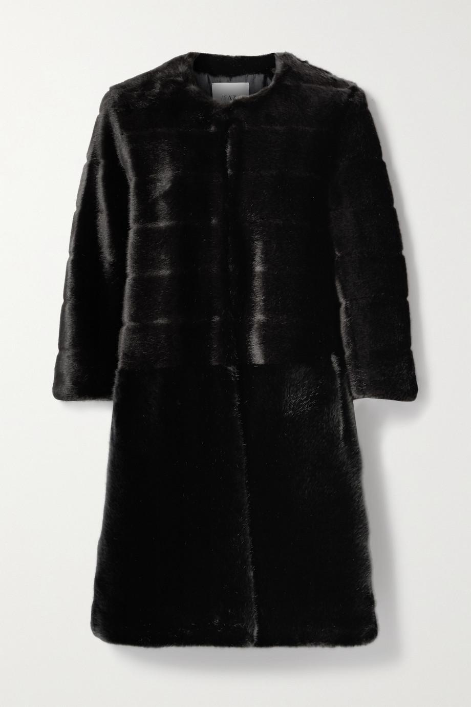 Faz Not Fur Omega zweifarbiger Mantel aus Faux Fur