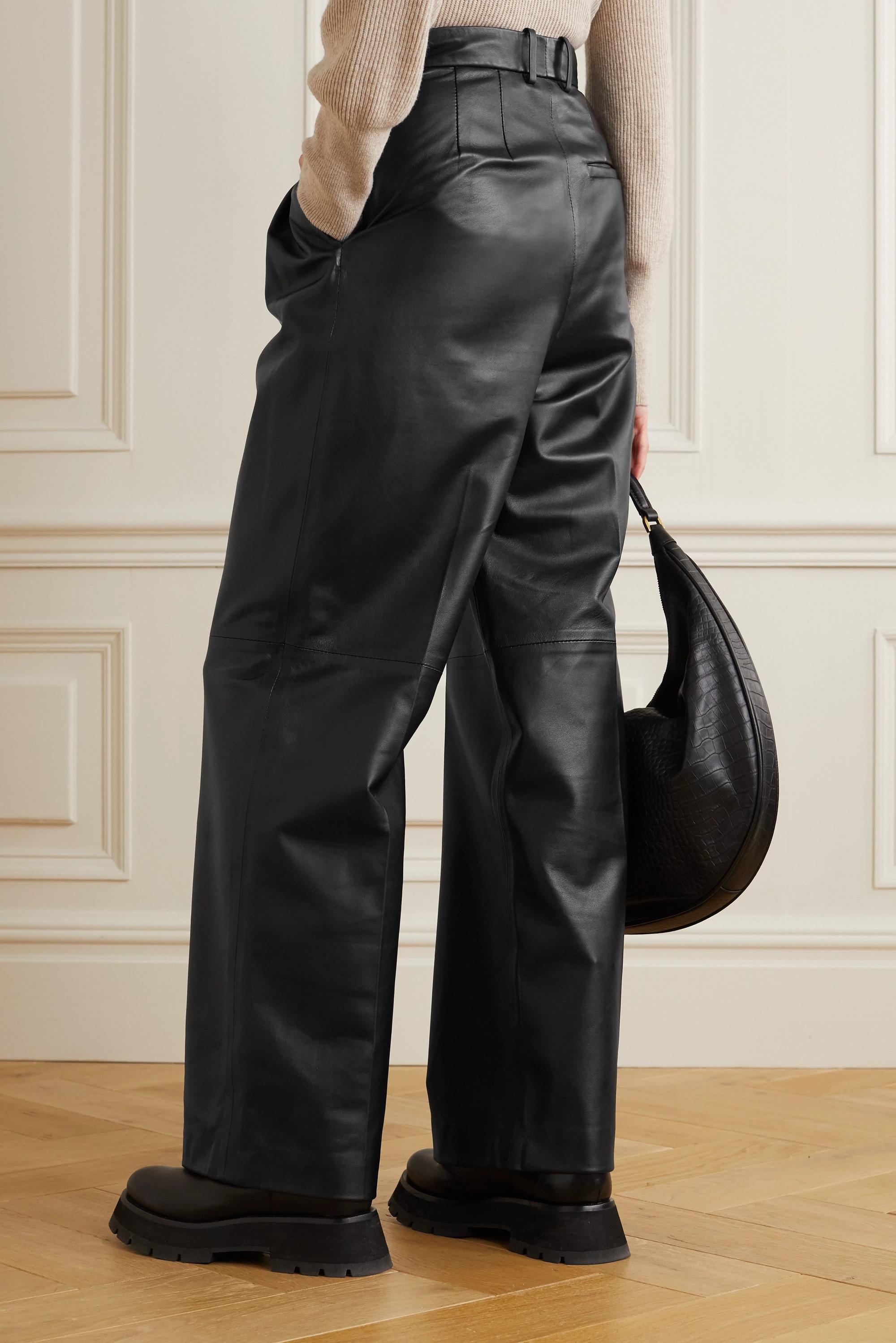 Joseph Tima leather wide-leg pants