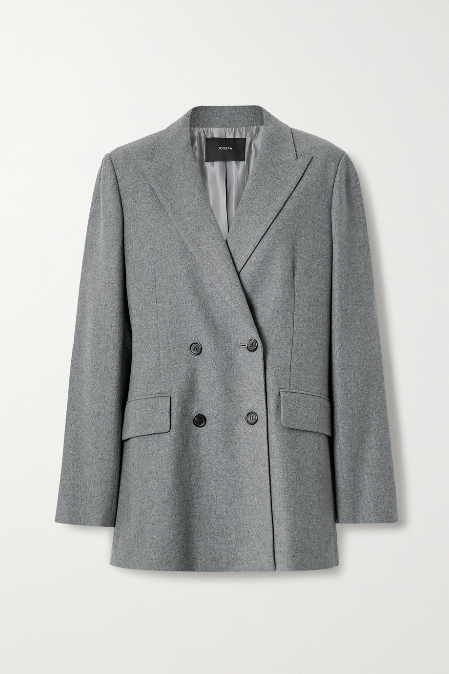 Joseph Jorgan oversized double-breasted wool and silk-blend flannel blazer